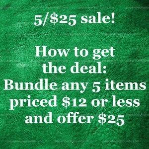 5/$25 deal